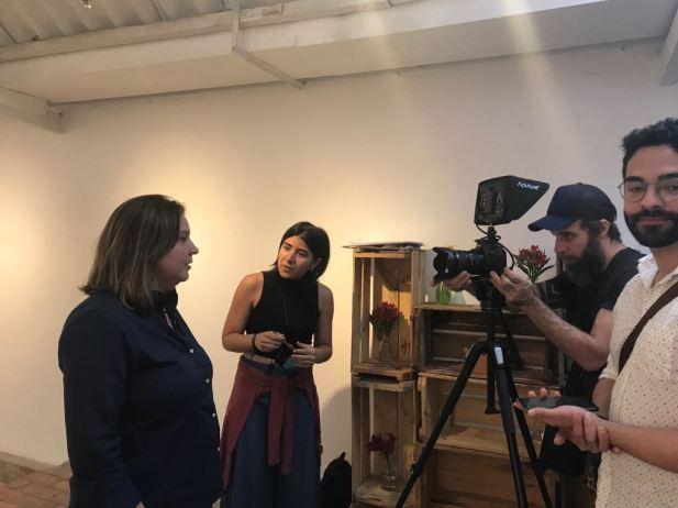 Entrevista para equipe do GloboNews no Festival Prisma