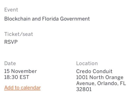 Blockchain & Florida Government em Orlando