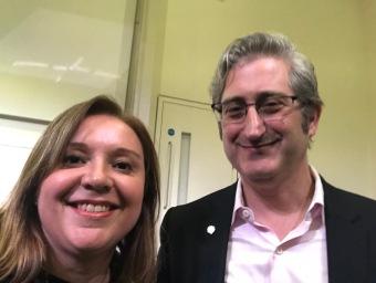 Tatiana Revoredo e David Shrier, creator and leader of the Oxford Fintech and Oxford Blockchain Strategy programs at Oxford University